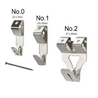 Standard No.0 Picture Hooks with Pins - Nickel Plated